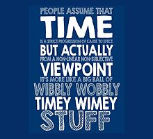 Doctor Who Timey Wimey by geekchicprints