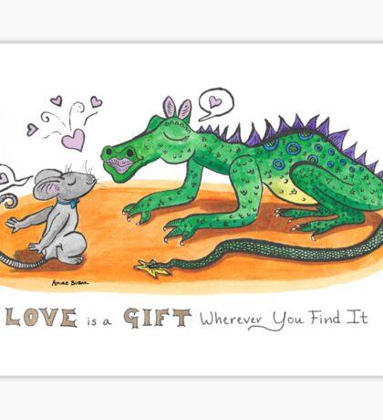 Love is a Gift Sticker