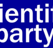 scientific party Sticker