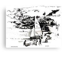 Balaena Bay, Wellington, New Zealand Canvas Print