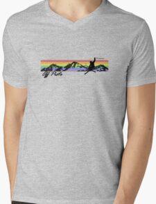 Off Piste Skiing Mens V-Neck T-Shirt