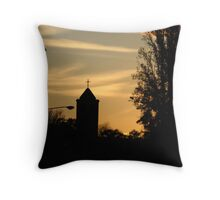 Manuka Catholic Church at Sunset Throw Pillow