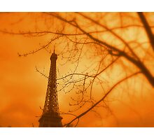 Eiffel orange Photographic Print