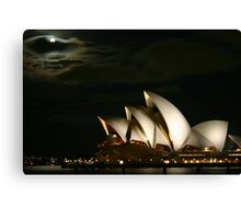 Harbour Moon Canvas Print