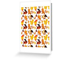 Fire Type Starters Pattern Greeting Card