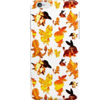 Fire Type Starters Pattern iPhone Case/Skin