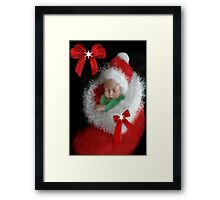 ☃ ☃ SILENT NIGHT ~ PRECIOUS IS THE GIFT OF LIFE ~JOY TO THE WORLD ❤‿❤BABIES FIRST CHRISTMAS -PICTURE/CARD AND VIDEO I MADE UP..JESUS LOVES THE LITTLE CHILDREN ☃ ☃ Framed Print