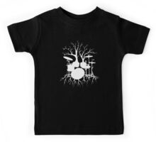 """""""Live the Beat to the Tempo of Creation"""" ~ drum art , version1 Kids Tee"""