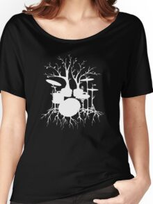 """Live the Beat to the Tempo of Creation"" ~ drum art , version1 Women's Relaxed Fit T-Shirt"
