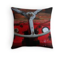 Red girl Throw Pillow