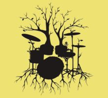 """Live the Beat to the Tempo of Creation"" ~ drum art, version2 Kids Tee"