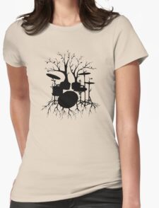 """""""Live the Beat to the Tempo of Creation"""" ~ drum art, version2 Womens Fitted T-Shirt"""