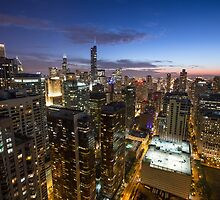 Blue Hour Above the City - Chicago by EricHinesPhotos