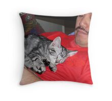 Sleep, purrrrchance to dream Throw Pillow
