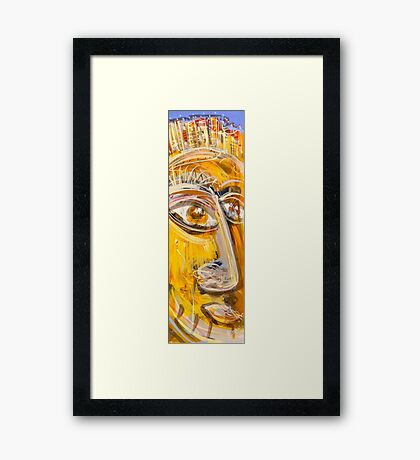 His story Framed Print