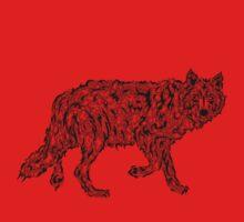 """Wolf Spirit"" - surreal tribal totem animal Baby Tee"