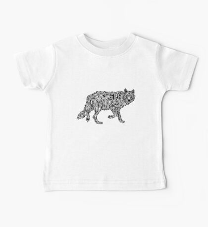 """Wolf Spirit"" - surreal tribal totem animal Baby Tee"