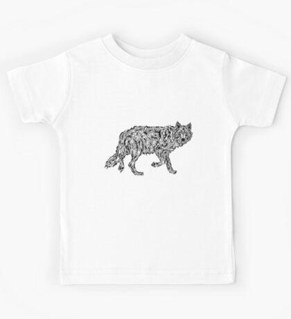 """""""Wolf Spirit"""" - surreal tribal totem animal Kids Tee"""