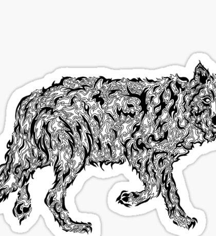 """Wolf Spirit"" - surreal tribal totem animal Sticker"