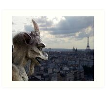 Guarding paris Art Print