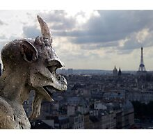 Guarding paris Photographic Print