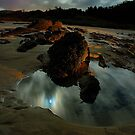 Moonlit rockpool by matthew maguire