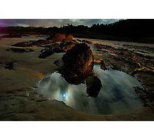 Moonlit rockpool Photographic Print