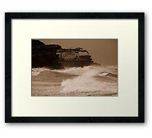 Stormy day near Bondi Framed Print