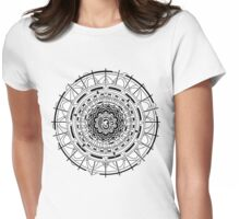 Mandala Om (black)  Womens Fitted T-Shirt