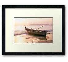 Krabi longboat Framed Print