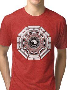 Mandala Yin Yang (white) Tri-blend T-Shirt