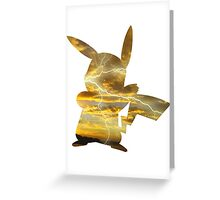 Pikachu used Thunderbolt Greeting Card