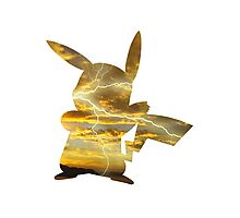 Pikachu used Thunderbolt Photographic Print