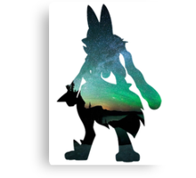 Mega Lucario used Aura Sphere Canvas Print