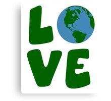 Love the Mother Earth Planet Canvas Print