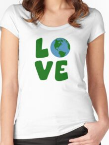 Love the Mother Earth Planet Women's Fitted Scoop T-Shirt