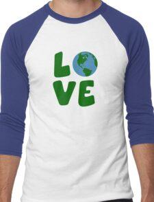 Love the Mother Earth Planet Men's Baseball ¾ T-Shirt