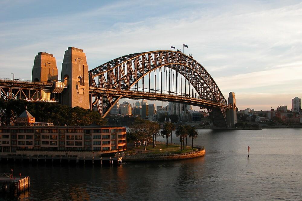 Golden Sydney Harbour Bridge by RailDen