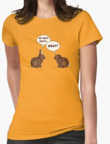 Chocolate Easter Bunny Rabbits Butt Hurts Womens Fitted T-Shirt