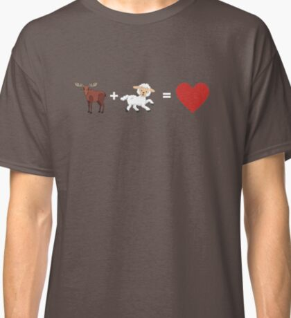 Moose and Lamb equals Love  Classic T-Shirt