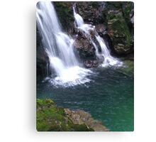 Waterfall In Slovenia Canvas Print