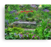 A Seat in Nature Canvas Print