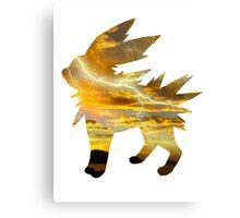 Jolteon used Thunder Canvas Print