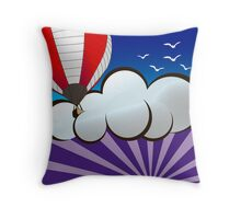 Hot Air Baloon Sunrise Throw Pillow