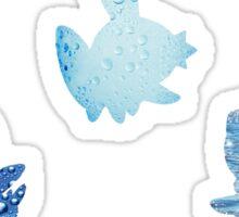 Water Type Starters Sticker