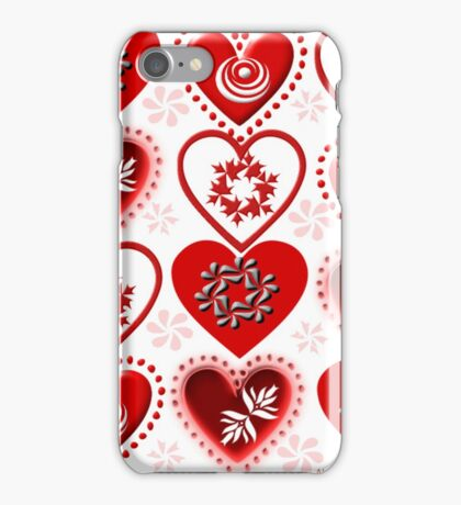 red heart pattern iPhone Case/Skin