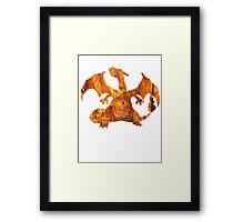 Charizard used Blast Burn Framed Print