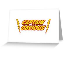 Captain Obvious Superhero Greeting Card