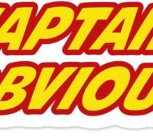 Captain Obvious Superhero Sticker
