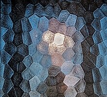 Faceted abstraction by Celeste Mookherjee